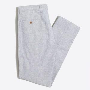 J Crew Bedford Grey Linen Dress Pants